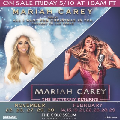 Caesars Ent. - Mariah Carey en Nov 2019 !
